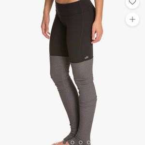 Alo Yoga Goddess Yoga Leggings S Black Gray Ribbed
